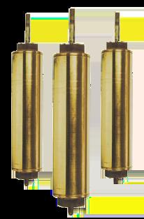 "442 Flush Cap 4"" x 13"" Brass Cylinders"
