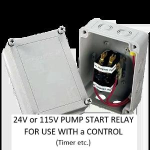 PUMP START RELAYS - 24v AND 115v