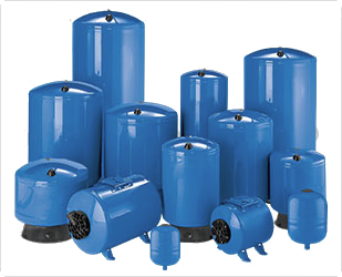 "Pro Source Steel Bladder Style Pressure Tanks 19 Gallon PS19T-T02 - Tall 1"" - Parts Shown Below at Additional Cost"