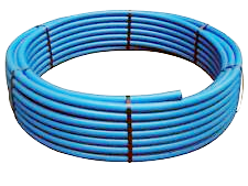200# SIDR CE Blue Poly Pipe 100' coils (Ordering Instructions Below)
