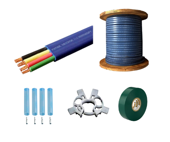 Submersible Pump Cable 12-3 with ground - Flat Jacketed - 500' or 1000' Reel (Ordering Instructions Below)