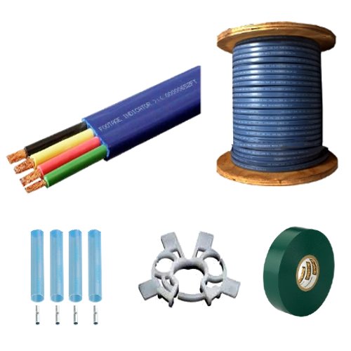 Submersible Pump Cable 10-3 with ground - Flat Jacketed - 500' or 1000' Reel (Ordering Instructions Below)