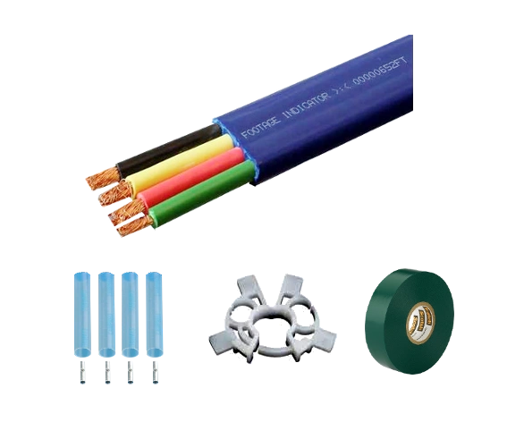 Submersible Pump Cable 10-3 with ground - Flat Jacketed - Cut To Length (Ordering instructions below)