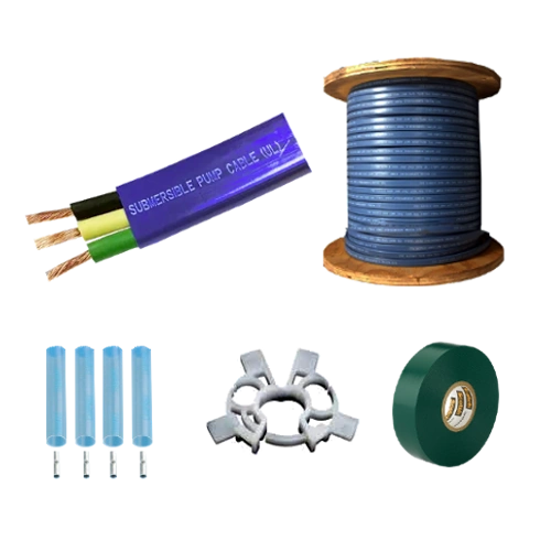Submersible Pump Cable 12-2 with ground - Flat Jacketed - 500' or 1000' Reel (Ordering Instructions Below)