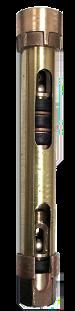 "852B 2-1/4"" x 36"" Stroke Open Top Deep Well Brass Cylinders"