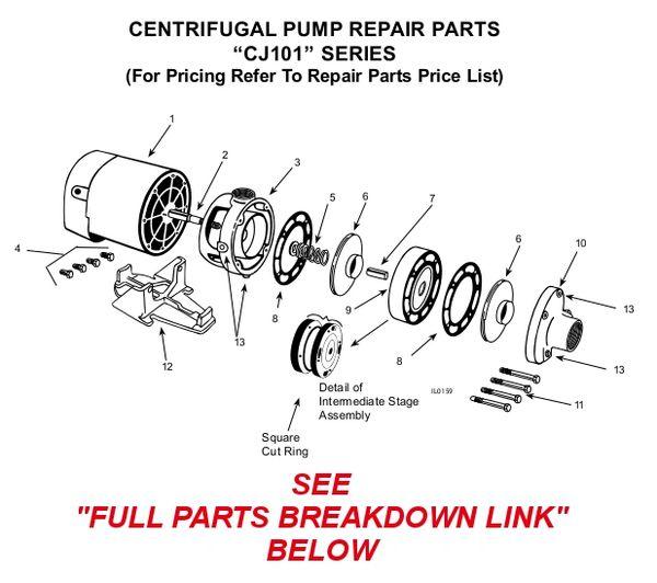 Order Flint & Walling CJ101 3/4 HP Pump Parts Here