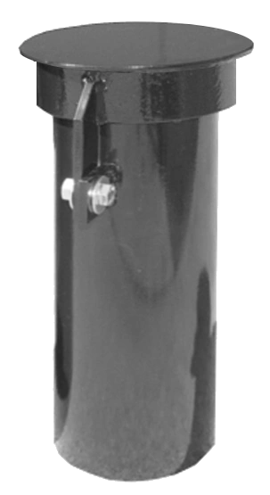 """EMCO WHEATON A0728 6"""" Round Steel Riser Protectors With Lockable Cover"""