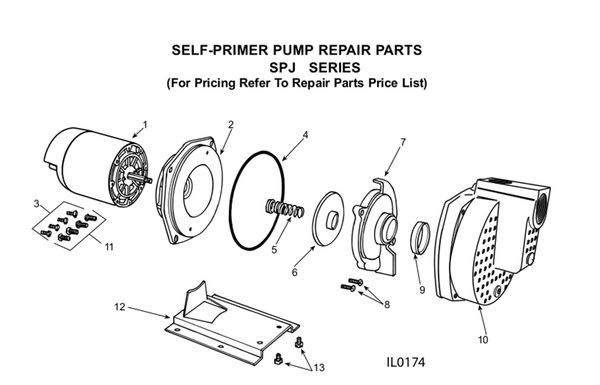 Order Flint & Walling SPJ 2 HP Pump Parts Here