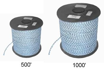 "1/4"" x 500' and 1000' Polypropylene Safety Rope"