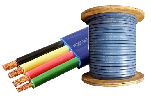 Submersible Pump Cable 12-3 with ground - Flat Jacketed - 500' or 1000' Reel