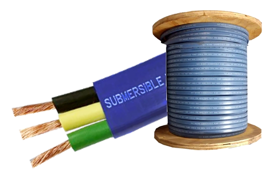 Submersible Pump Cable 12-2 with ground - Flat Jacketed - 500' or 1000' Reel