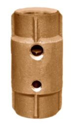 "Check Valves - Brass - Lead Free ​Female Pipe Threads x Female Pipe Threads With 2 Taps 1/4"" and 1/8"""
