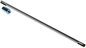 "7/16"" X 3' OR 5' Galvanized Sucker Rod w-coupling"