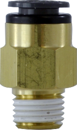 DOT Approved Brass Push-In Air Line x MIP Adapter