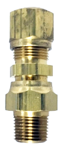"DOT Approved 3/8"" Brass Compression x 3/8"" MIP Swivel Adapter DOT152"