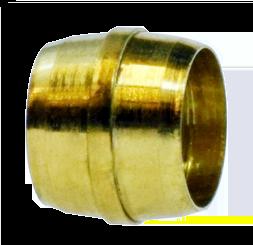 """DOT- 1/4"""" Brass Sleeve for Nylon Air Brake Line DWP-DOT172"""