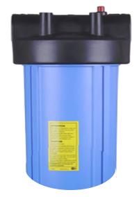 """BIG Blue 13-1/8"""" x 7-1/4"""" 1"""" FIP Inlet Whole House High Flow Water Filter Housing Only"""