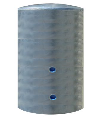 42 Gallon Short Galvanized Pressure Tank Only Rated 75# - Drainback Parts shown below available at additional cost