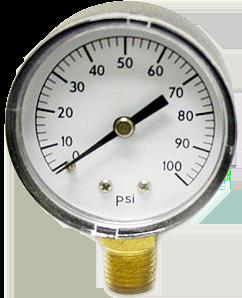 "Pump Pressure Gauge Base Mount 1/4"""