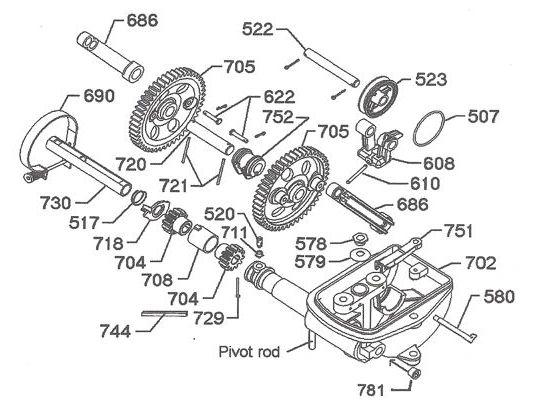 702 8' A Windmill Motor Parts