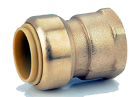 Brass Push On Female Adapters 4 Pack