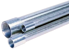 2 INCH X 21 FOOT THREADED AND COUPLED GALVANIZED PIPE Bundle of 3 Minimum