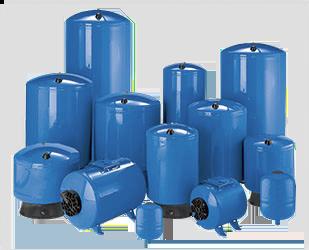 "Pro Source Steel Bladder Style Pressure Tanks 119 Gallon PS119-TR50 1-1/4"""