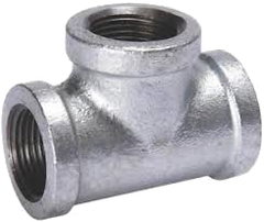 "3/4"" - 2"" NPT Galvanized Threaded Pipe Tees"