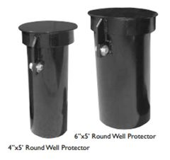 "4"" Round Steel Riser Protectors With Lockable Cover"