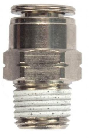 "Water Truck Straight Air Line Connector 1/4"" MIP x 1/4"" OD"