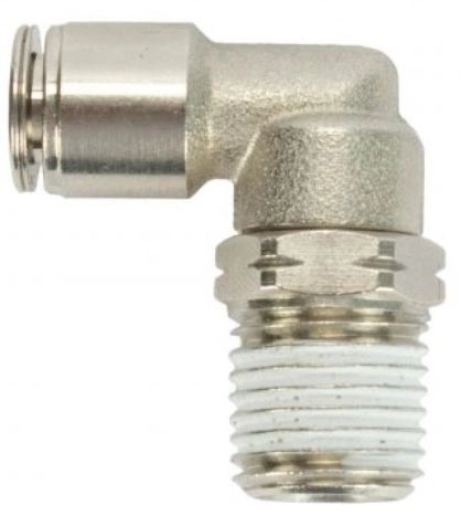 "Water Truck 90 Degree Air Line Connector 1/4"" MIP x 1/4"" OD"