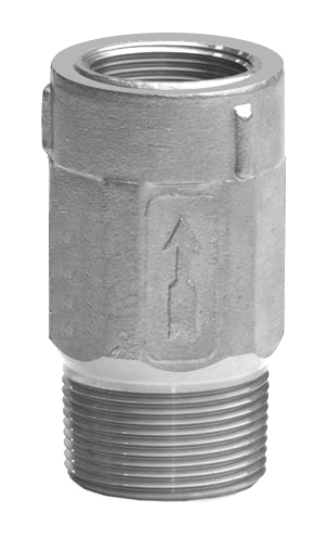 "4221LSS2 1-1/4"" MIP X 1"" FIP Stainless Steel Submersible Check Valve"