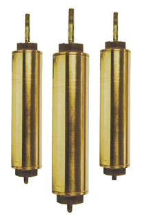 "442 Flush Cap 1-11/16"" x 10"" Brass Cylinders"