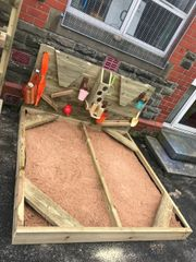 Sandpit and Activity Wall