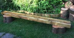 Rustic Stump and Sleeper Benches