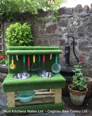 Little Green Sensory Mud Kitchen
