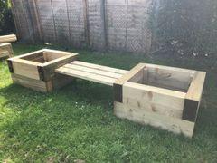 Double Sleeper Planter Bench