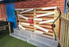 DIY Water Wall with Water Wheel