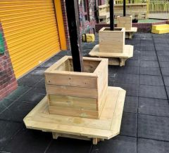Square Planters with Seats