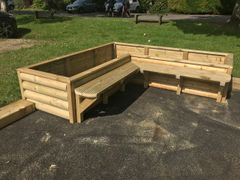 Corner Planter & Bench