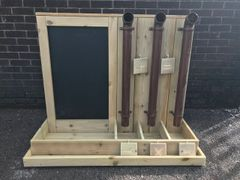 Posting Pipes / Adding Machine & Chalkboard
