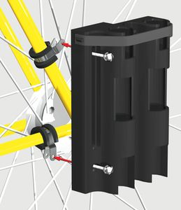 bike fisherman rod holder installation diagram