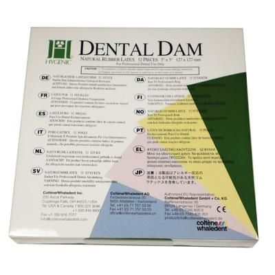 COLTENE HYGENIC DENTAL DAMS LATEX