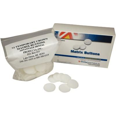 ADVANTAGE DENTAL TEMPORARY CROWN MATRIX BUTTONS