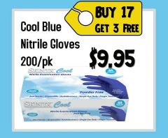 SKINTX COOL BLUE NITRILE EXAM GLOVES