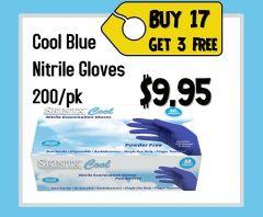 SKINTX COOL BLUE NITRILE EXAM GLOVES