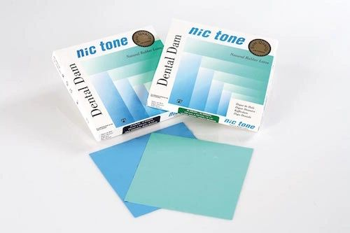 MDC NIC TONE RUBBER DAM 6X6 LATEX
