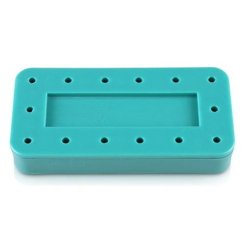 PLASDENT RECTANGULAR BUR BLOCK 14-HOLE