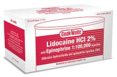 COOK-WAITE LIDOCAINE RED 2% 1:100,000