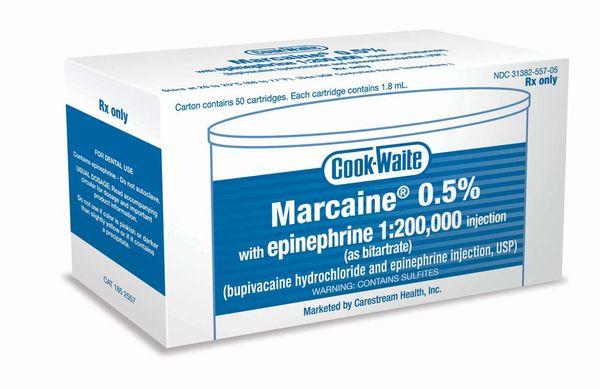 COOK-WAITE MARCAINE HCl 0.5%
